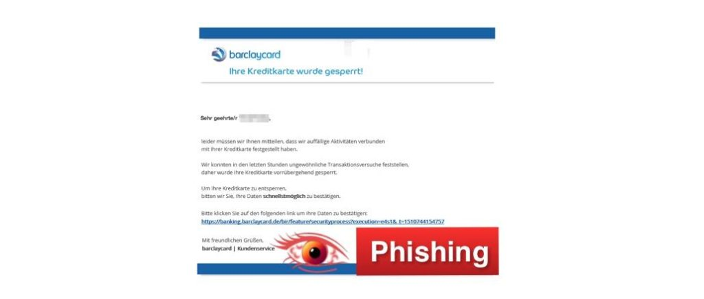 2018-02-13 barclaycard Phishing
