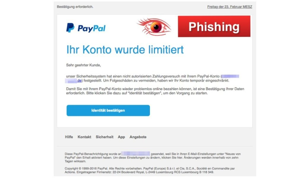 Paypal Konto Limitiert