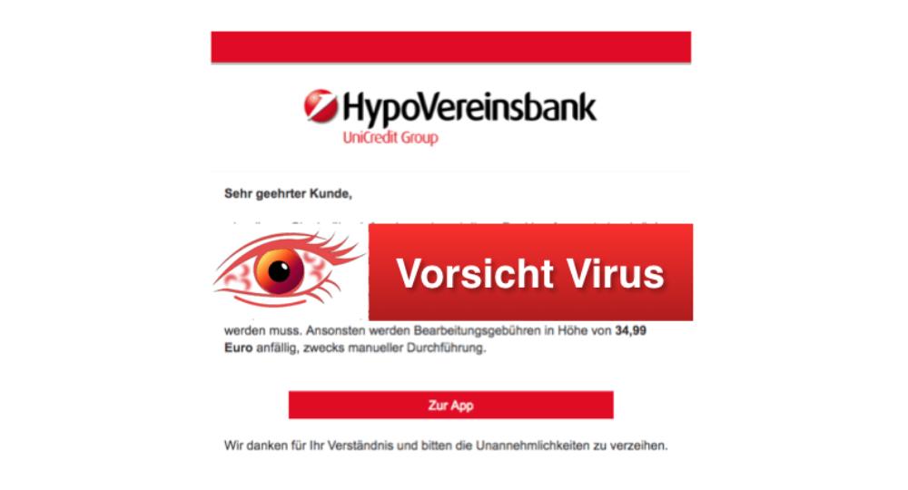 """HypoVereinsbank (HVB) Phishing: Gefälschte E-Mail """"Neue änderung"""" ist Spam"""