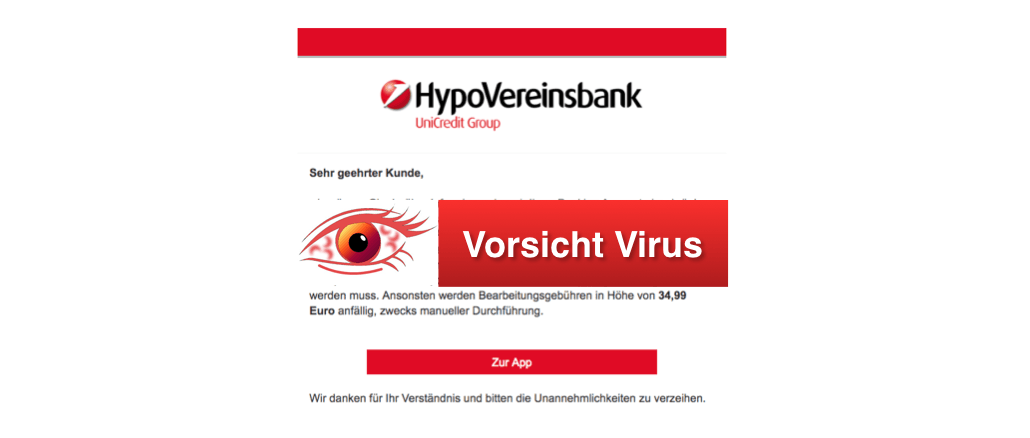2018-02-27 Spam Phishing HypoVereinsbank aktuell