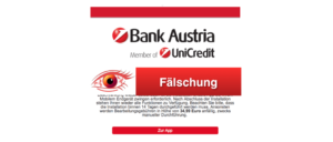2018-02-28 Bank Austria aktuell Spam-Mail Kundeninformation