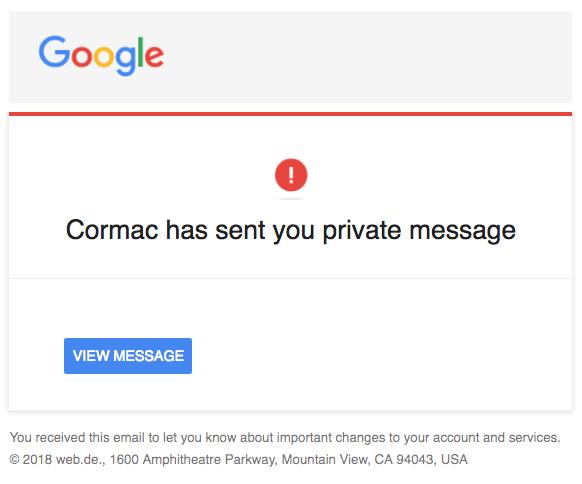 2018-03-06 Google Spam Mail Benachrichtigung