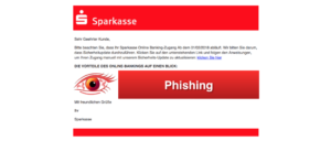 2018-03-06 Sparkasse Phishing Mail Sicherheits-Update