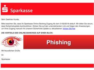2018-03-06 Sparkasse Phishing Mail Sicherheits-Update