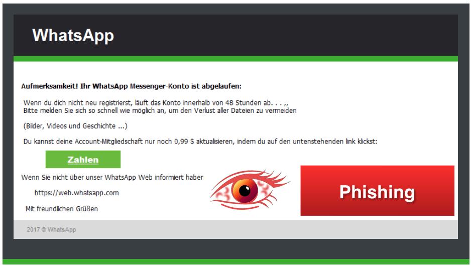 2018-03-07 WhatsApp Spam Phishing Ihr Konto ist abgelaufen