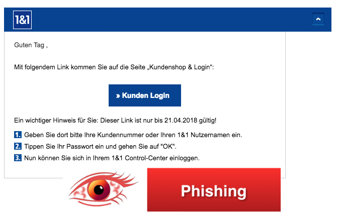 2018-04-11 1und1 Phishing Spam Mail Control-Center