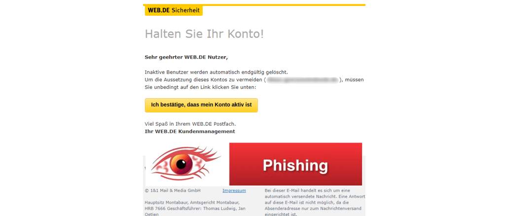 phishing nachricht best tigen sie ihr konto ist spam. Black Bedroom Furniture Sets. Home Design Ideas