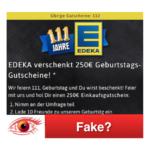 Edeka Geburtstagsgutscheine 250 Euro Fake Kettenbrief