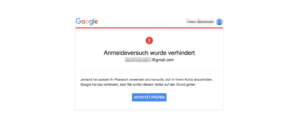 Google E-Mail Kritische Sicherheitswarnung ist echt