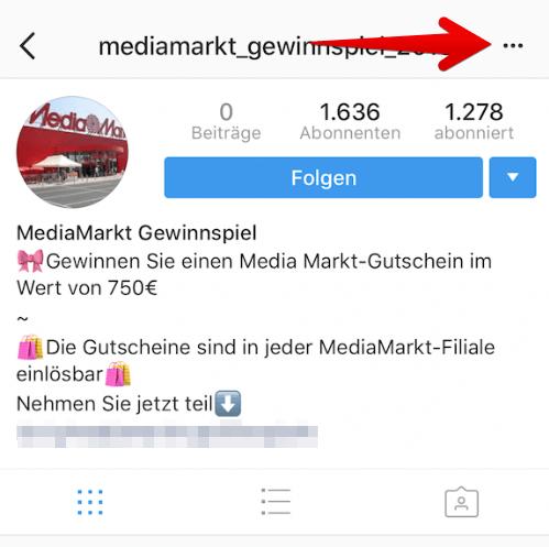 Person passiert was instagram blockieren Instagram Follower