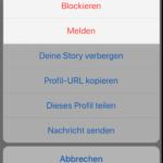 Instagram Profil blockieren 2