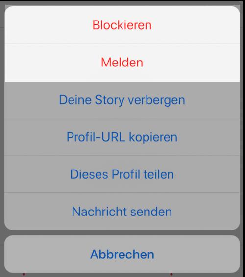 Instagram Profil Melden