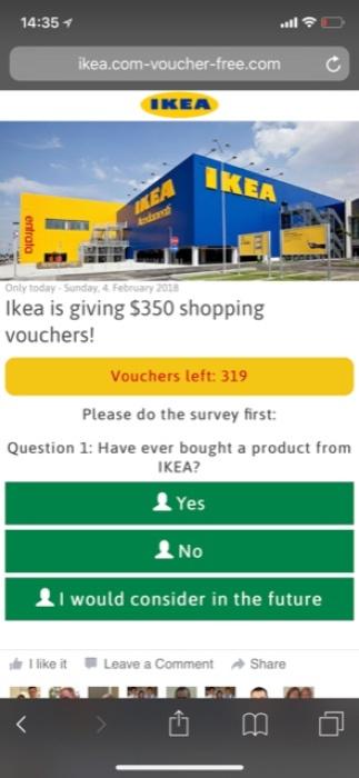 Kettenbrief Ikea Gutschein