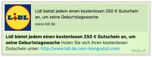 Lidl Gutschein 250 Euro