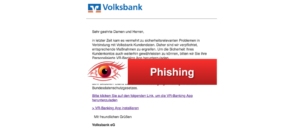 Volksbank Spam Mail VR-Banking-App