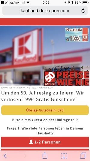 WhatsApp Facebook Kettenbrief Kaufland 199 Euro Geschenkkarte 4