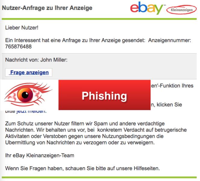 ebay phishing aktuell diese spam mails sind eine f lschung und betrug. Black Bedroom Furniture Sets. Home Design Ideas