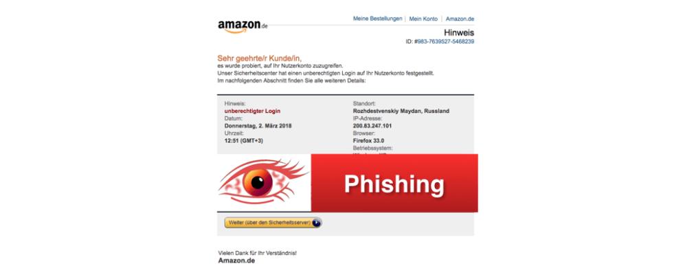 Amazon Phishing: Gefälschte E-Mails im Namen des Versandhändlers (Update)