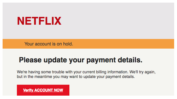 2018-03-05 Netflix Spam Mail Please update your payment details