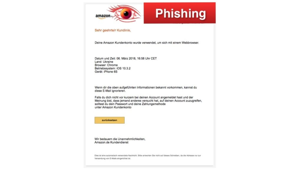 2018-03-07 Amazon Phishing