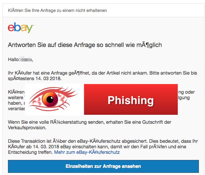 2018-03-15 eBay Spam Phishing Anfrage