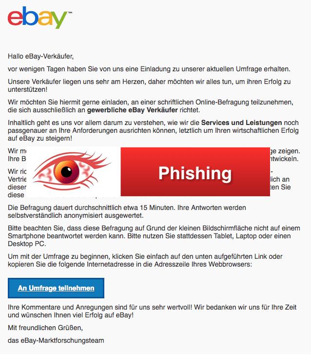 2018-03-19 eBay Spam Mail Phishing Erinnerung zur eBay-Studie