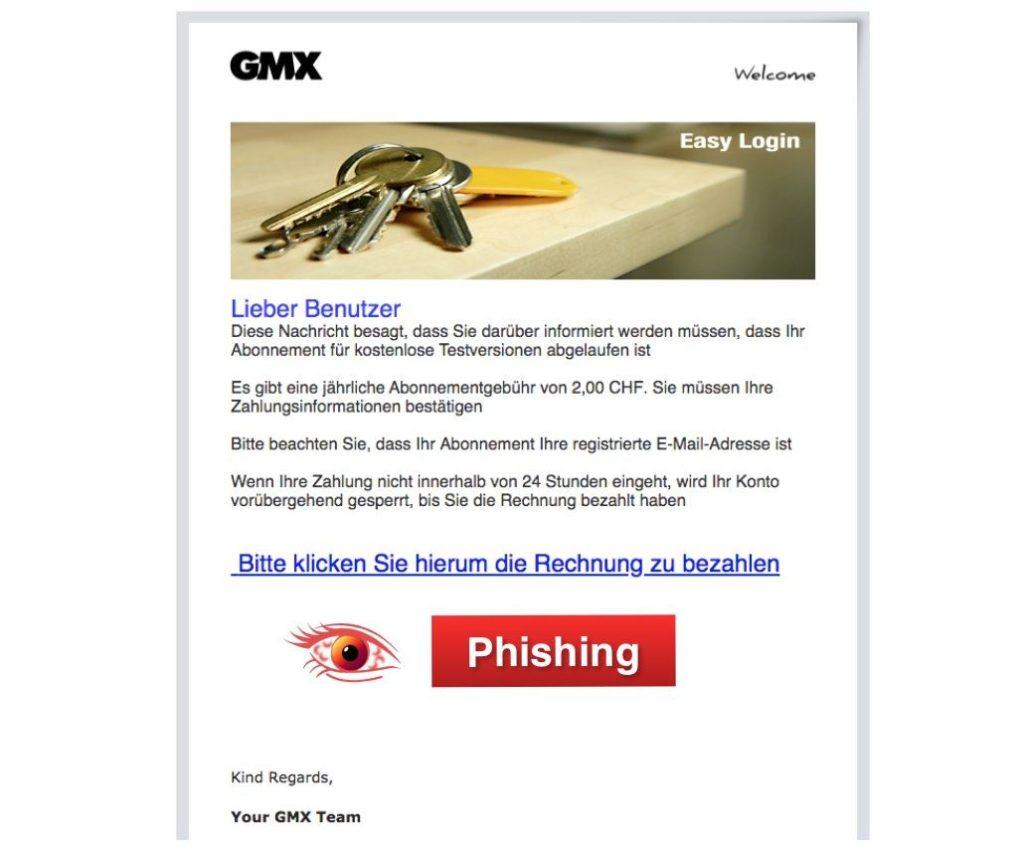 gmx phishing e mail aktualisierung ist betrug link. Black Bedroom Furniture Sets. Home Design Ideas