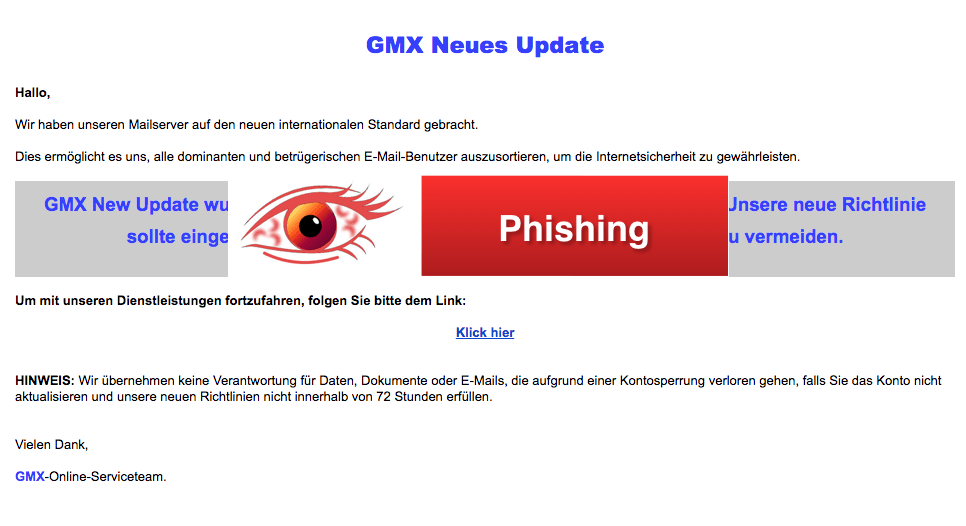 2018-03-22 GMX Spam aktuell GMX Benachrichtigung