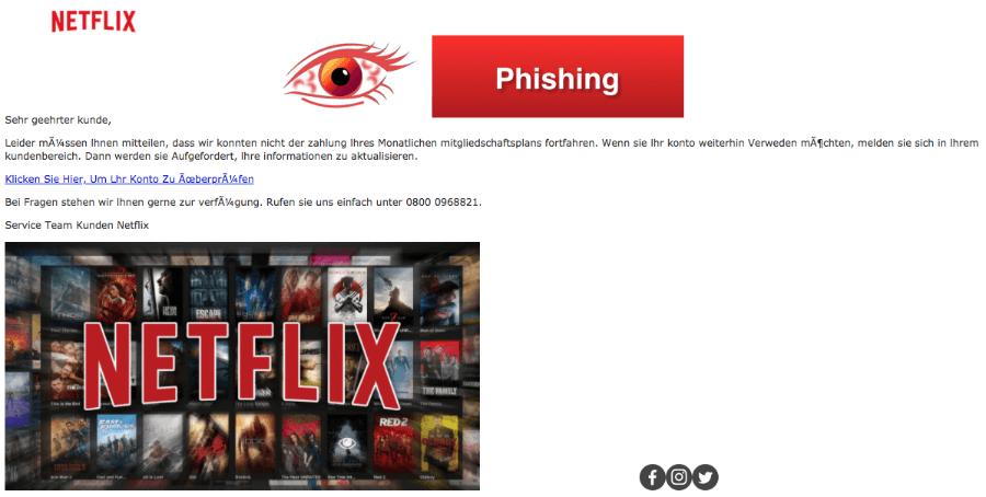 2018-03-22 Netflix Phishing aktuell lhre informationen zu aktualisieren