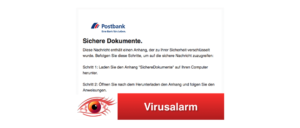 2018-03-23 Postbank Fake Mail Sichere Dokumente Virus