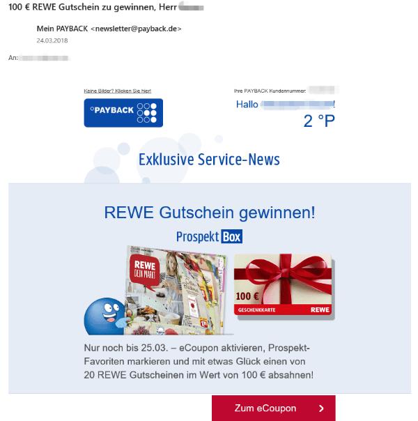 2018-03-26 Payback Mail Gutschein gewinnen ist echt