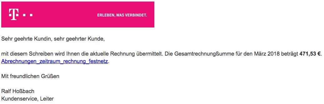 2018-03-29 Telekom RechnungOnline Benachrichtigung