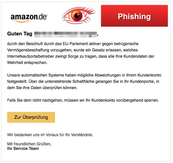 2018-04-02 Amazon Spam Sicherheitsmitteilung