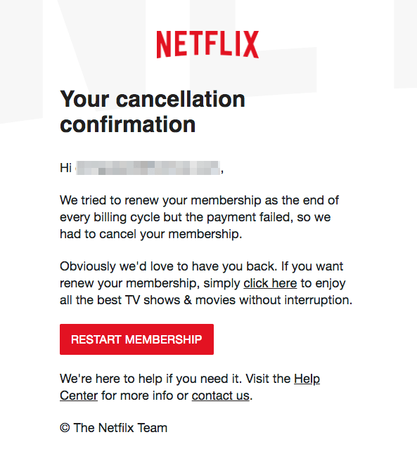 2018-04-03 Netflix Phishing Your cancellation confirmation