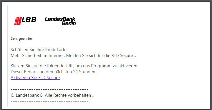 2018-04-09 Landesbank Berlin Spam Phishing Аktiviеrеn Sie 3D Sеcurе