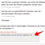 Anleitung Abfrage Domaininhaber 2