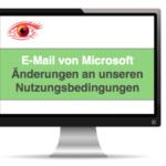 E-Mail Microsoft Änderungen an unseren Nutzungsbedingungen