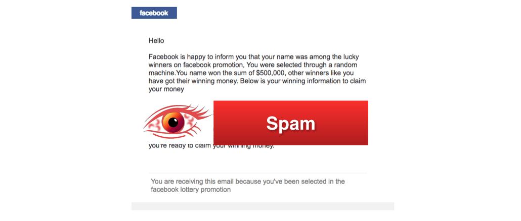 Facebook Lotterie Gewinn Benachrichtigung E-Mail