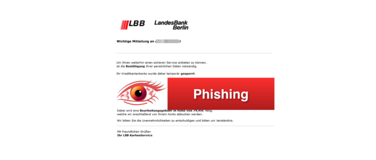 Landesbank Berlin LBB Phishing-Mails Spam