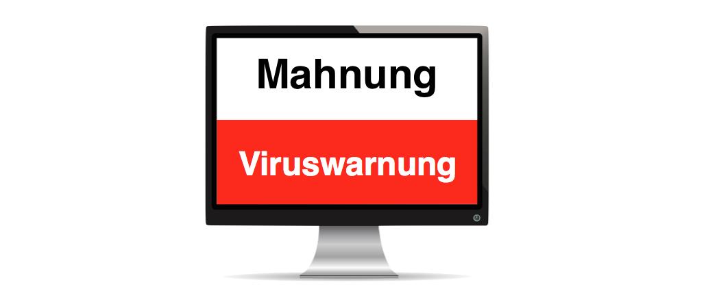 Mahnung Virus Symbilbild