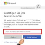 Microsoft Konto Kennwort ändern 3
