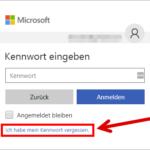 Microsoft Konto Kennwort zurücksetzen 1