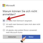 Microsoft Konto Kennwort zurücksetzen 2