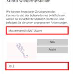 Microsoft Konto Kennwort zurücksetzen 3