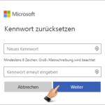 Microsoft Konto Kennwort zurücksetzen 6