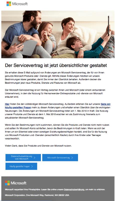 1 Microsof1 Microsofmail At Abc Microsoft Company: Entwarnung Zur E-Mail Von Microsoft: Änderungen