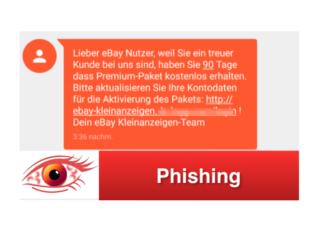 Phishing SMS ebay-kleinanzeigen Premium-Paket