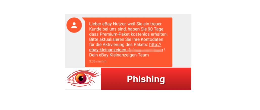 Ebay Kleinanzeigen Phishing Sms Spaht Kreditkartennummer Aus