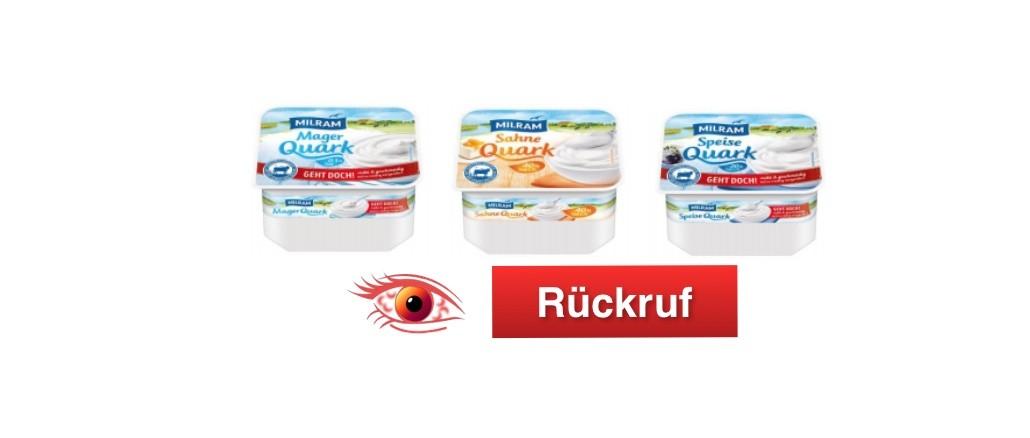 Rückruf DMK Group Quark Produkte
