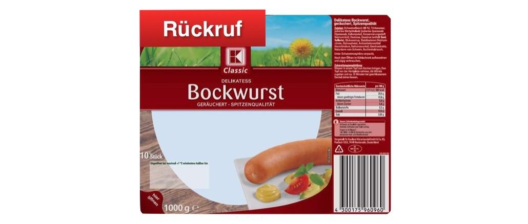 Rückruf Kaufland K-Classic Delikatess Bockwurst